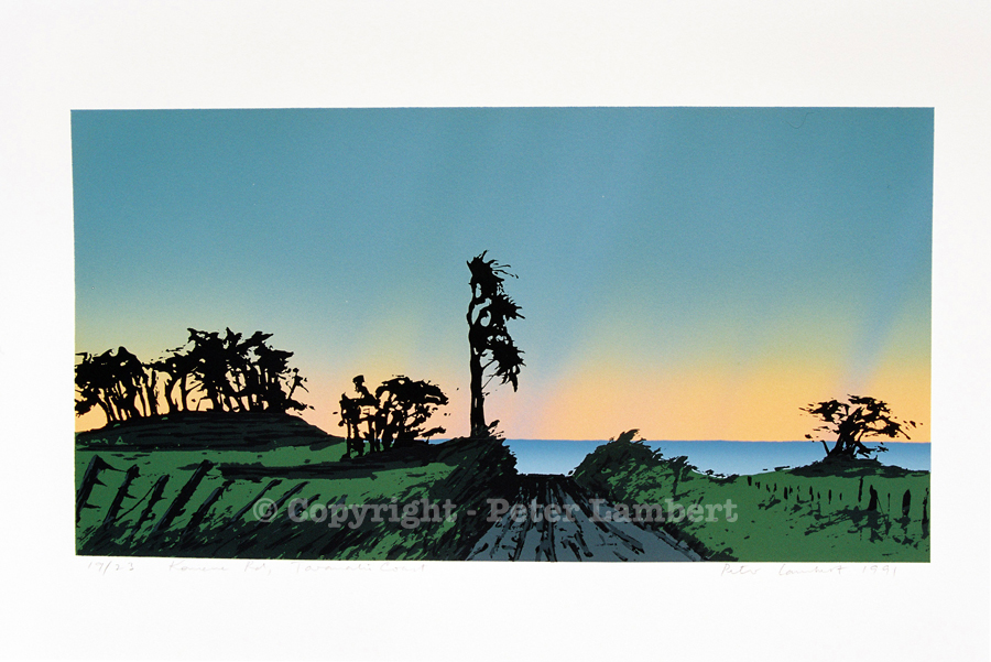 Komene Road - 1991, Screenprint on paper, Edition sold