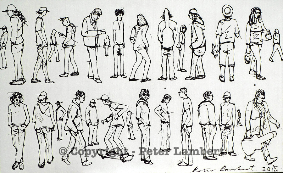 People Out and About - 2015, Sold
