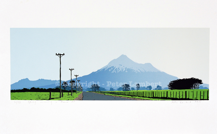 Spring Morning, Ihaia Road - 1985, Screenprint on paper, Edition sold. Reproductions Available
