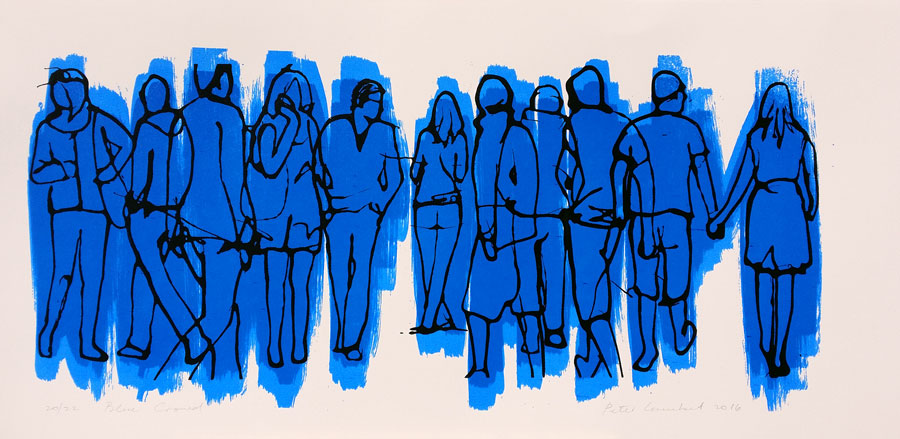 Blue Crowd - 2016. Limited Edition Screen Print