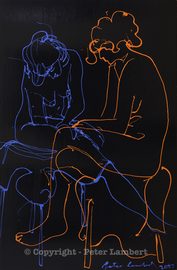 Two Seated Nudes - 2007, Sold