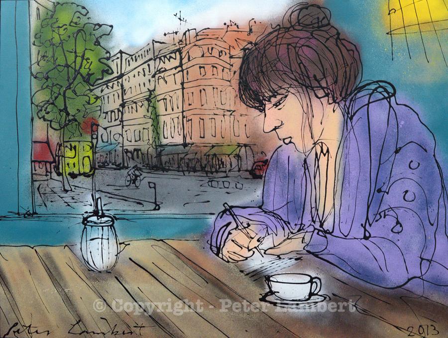 Woman Writing, Bateau Ivre, Berlin - 2013, Sold