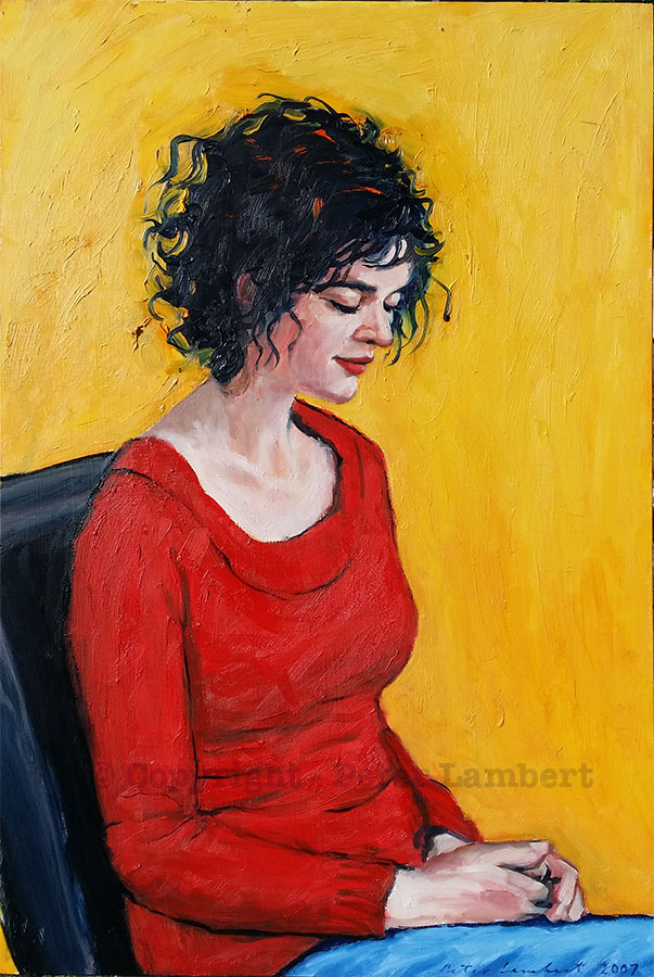 Donna in a Red Sweater - 2007, Sold