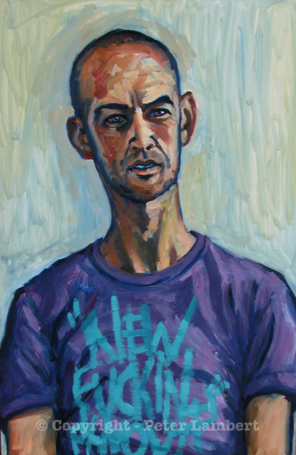Phil - 2007, Oil on board, Artist's Collection