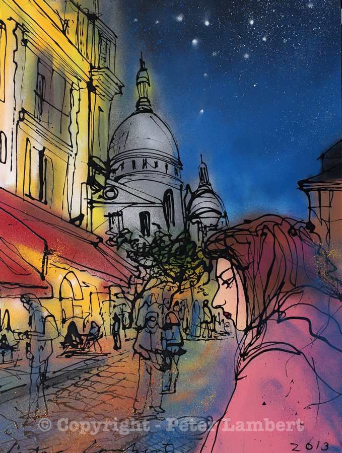 An Evening in Montemartre - 2013, Sold