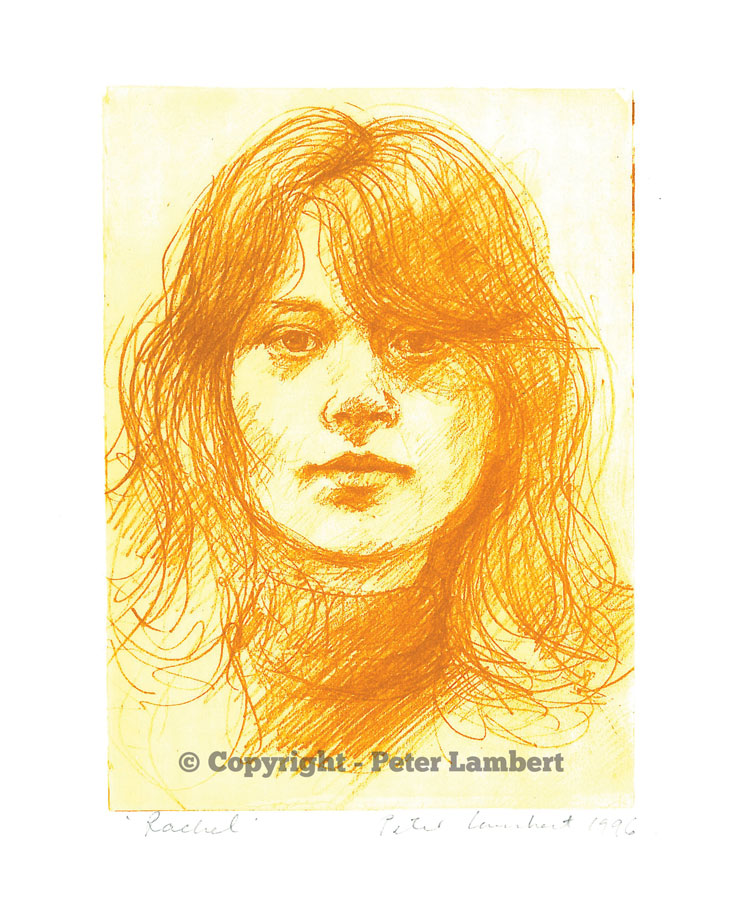 Rachel - 1993, Solarplate etching, Artist's Collection