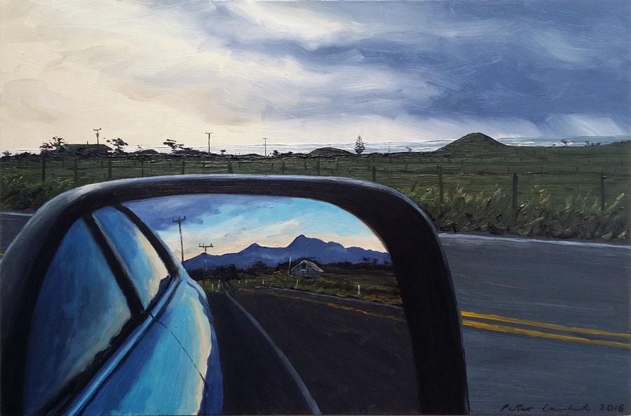 Rear Vision Mirror and Kaitake Ranges - 2016, Sold