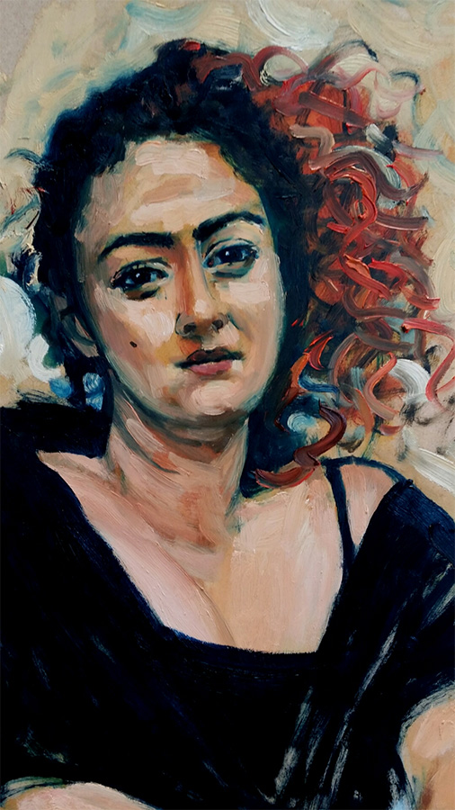 Gloria 2016,Oil on board, Artist's Collection