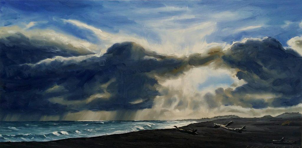 Winter Light, Komene Beach - 2017, Sold