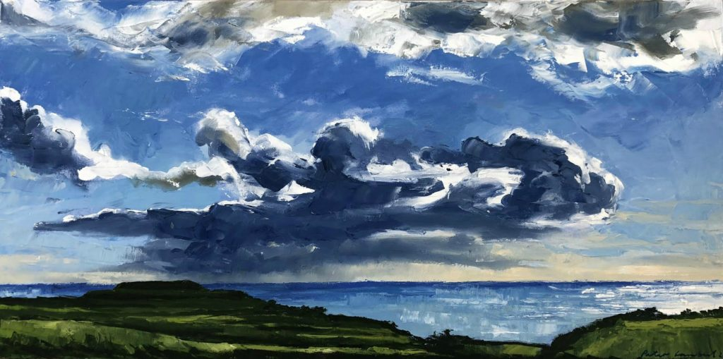 """Cloud Study, Oakura Coast"" - 2018, Sold"