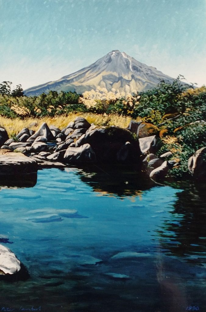 """Mt. Taranaki and Pool, Blue Rata Reserve"" - 1990"