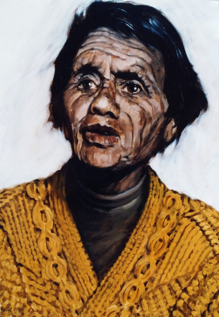 """Ruihi Morere Broughton"" - 1990 Oil on Board"