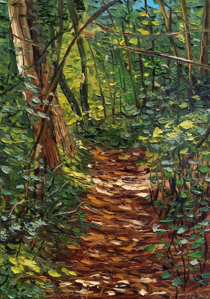 """""""Bush Track"""" 1/3/2019    Oil on canvas 420mmx290mm - Sold"""