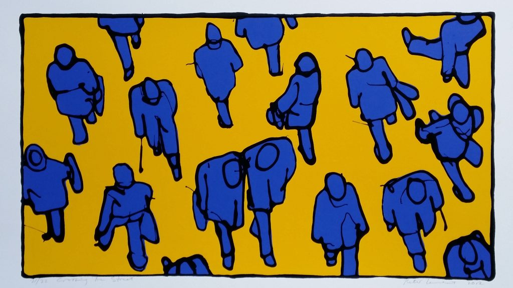 """21/22 """"Crossing the Street"""" - 2012 Limited Edition Screen Print"""