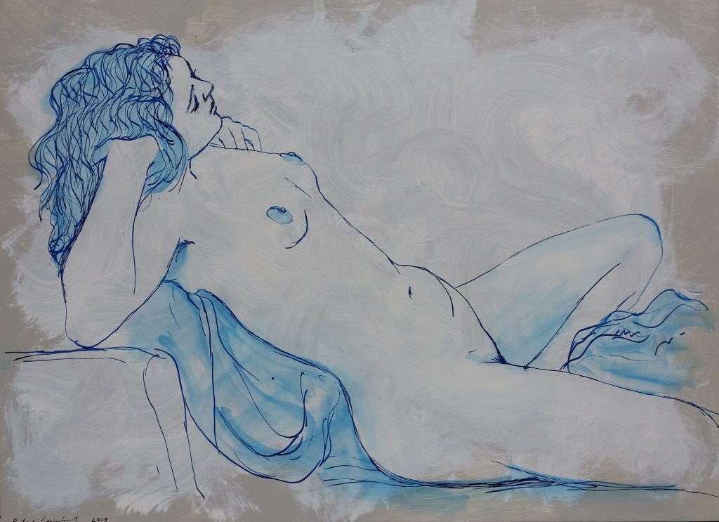 Nude in Blue Ink- 2019