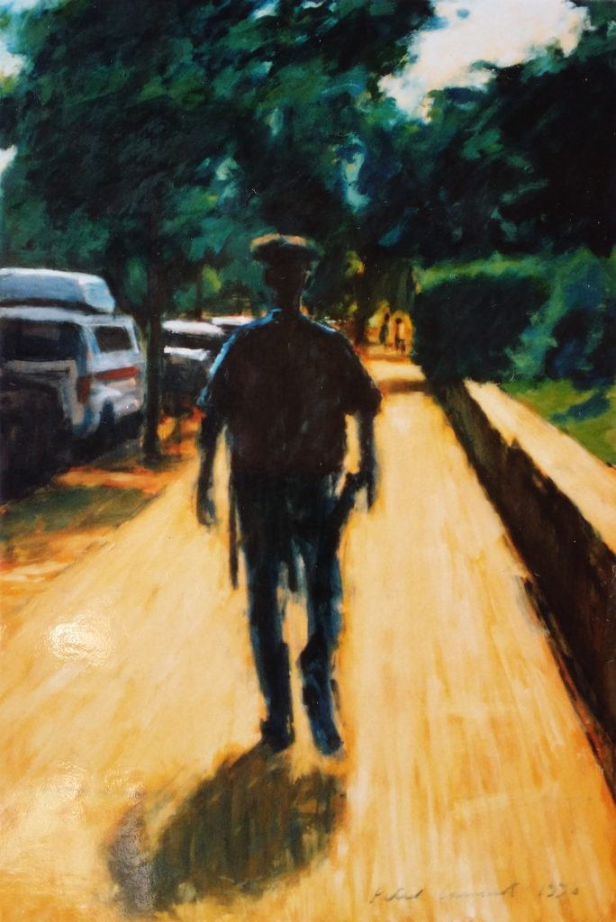 Walking the Beat - 1996 Oil on Board