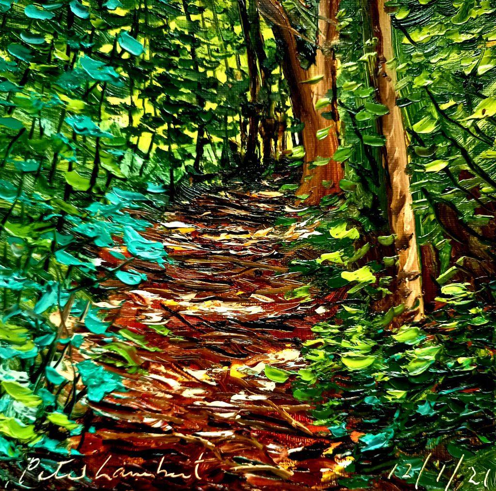 Bush Track 12/1/21, 200x200mm Oil o canvas
