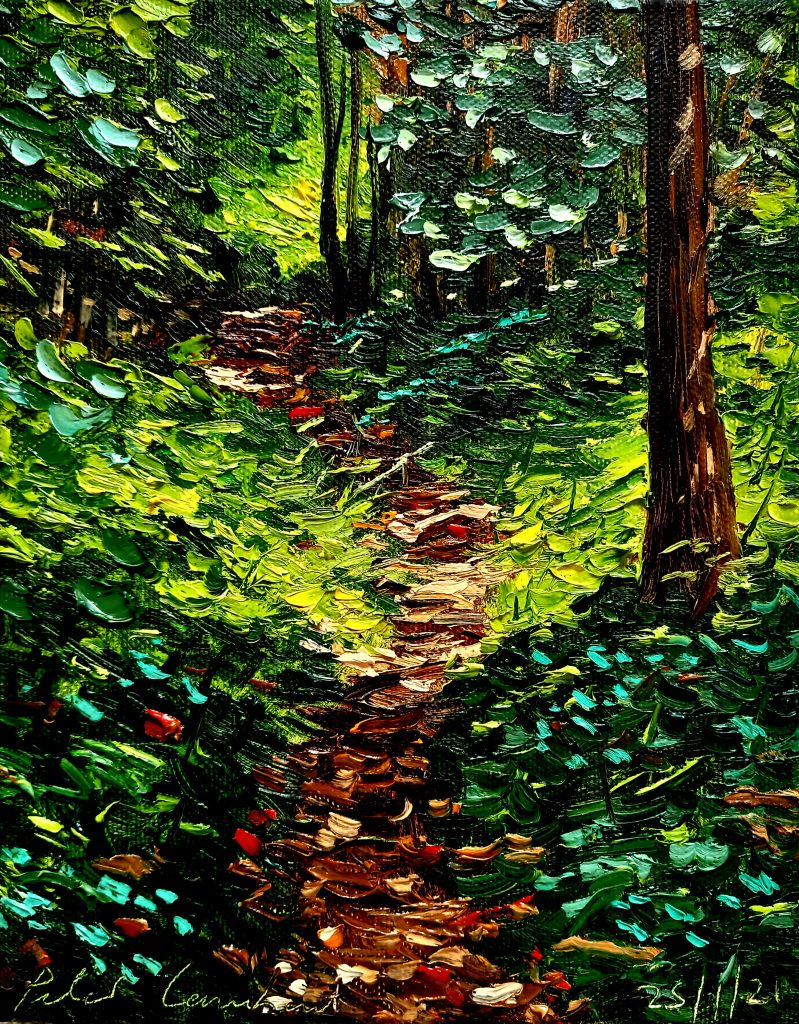 Bush Track 25/1/21, 200x260mm Oil on canvas