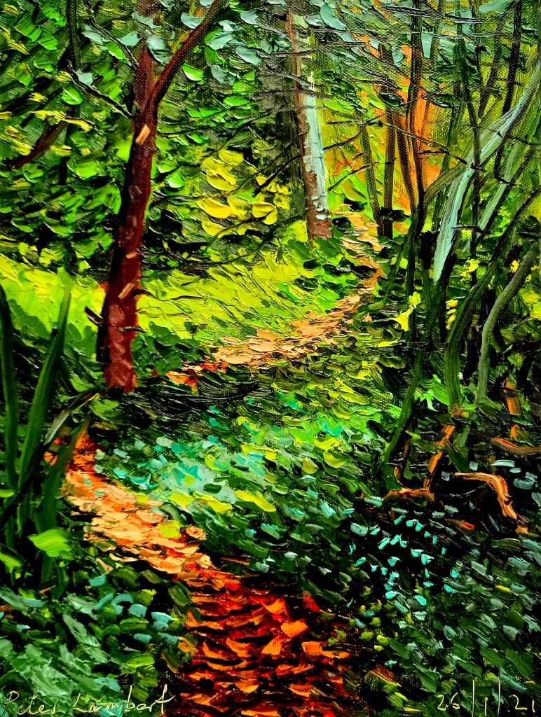 Bush Track 26/1/21, 300x400mm Oil on canvas